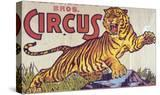 """Arthur Bros Circus"" Poster with Illustration of Roaring Tiger  Circa 1945"