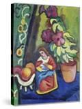 Stilleben Mit Madonna  Petunie Und Aepfeln  1911