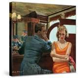 """The Day He Went Away - Saturday Evening Post """"Leading Ladies""""  April 11  1959 pg21"""