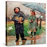 """Waiting for Bus in Rain ""April 1  1948"