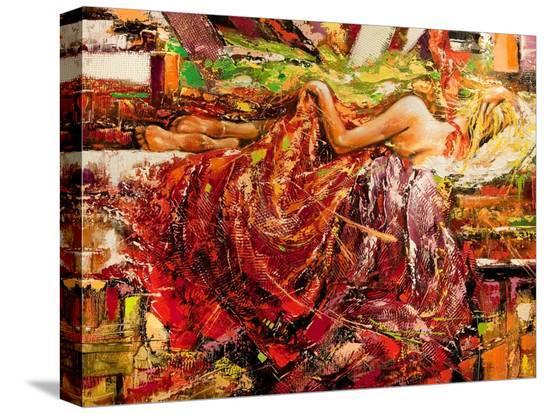 balaikin2009-the-sleeping-girl-drawn-by-oil-on-a-canvas