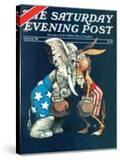 """""""Democrats vs Republicans """" Saturday Evening Post Cover  July/Aug 1980"""
