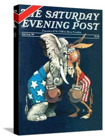 bb-sams-democrats-vs-republicans-saturday-evening-post-cover-july-aug-1980