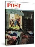 """Baby Bridge Party"" Saturday Evening Post Cover  November 24  1956"