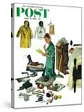 """Checklist for Summer Camp "" Saturday Evening Post Cover  June 24  1961"