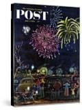 """""""Fireworks"""" Saturday Evening Post Cover  July 4  1953"""