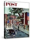 """""""Float Flat"""" Saturday Evening Post Cover  July 5  1958"""