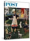 """""""Hot Dogs"""" Saturday Evening Post Cover  September 13  1958"""