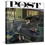 """Prom Dates in Parking Lot "" Saturday Evening Post Cover  May 19  1962"