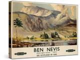 Ben Nevis  Poster Advertising British Railways  C1955