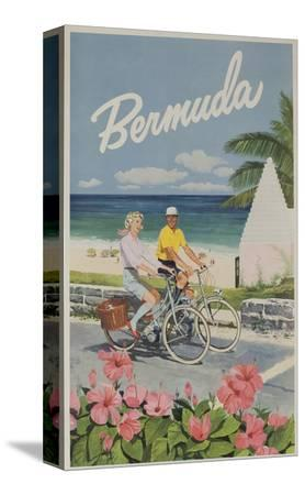 bermuda-travel-poster-couple-on-bicycle
