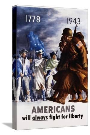 bernard-perlin-americans-will-always-fight-for-liberty-poster
