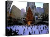 Rockafeller Center at Christmas  New York City  New York  USA