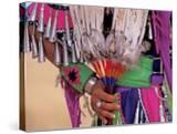 Native American in Colorful Regalia for Wild Horse Casino Pow Wow  Oregon  USA
