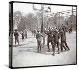 View of Boys Playing Basketball on a Court at Tompkins Square Park on Arbor Day  New York  1904