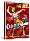 Calamity Jane  Doris Day  Howard Keel  (Belgian Poster Art)  1953
