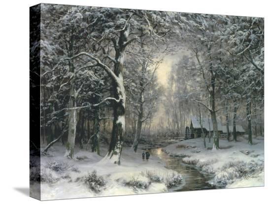 carl-fahrbach-wooded-winter-landscape-c-1899