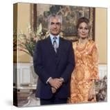 Shah of Iran Mohammad Reza Pahlavi and Wife Farah  2500th Anniversary of Persia  Persepolis