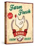 Retro Fresh Eggs Poster Design