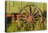 USA  South Dakota  Wild Horse Sanctuary Close-up of Vintage Wagon