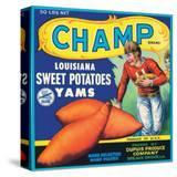 Champ Brand Louisiana Sweet Potatoes  Yams