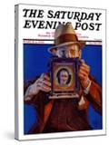 """""""Box Camera """" Saturday Evening Post Cover  March 4  1933"""