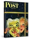 """Witch's Mask "" Saturday Evening Post Cover  October 31  1942"