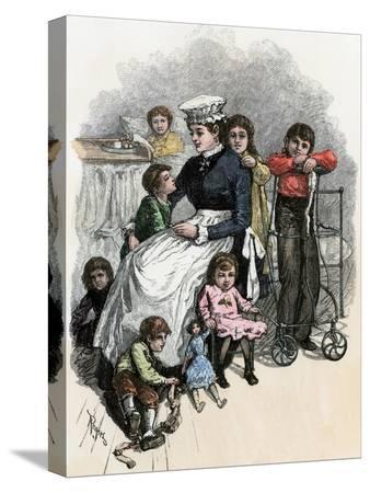 children-s-ward-nurse-with-her-patients-at-bellevue-hospital-new-york-city-1870s