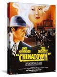 Chinatown  French Poster Art  Jack Nicholson  Faye Dunaway  1974