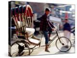 Cycle Rickshaw on Street  Kathmandu  Nepal
