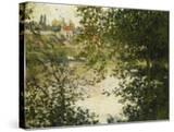 A View Through the Trees of La Grande Jatte Island; a Travers Les Arbres  Ile De La Grande Jatte …