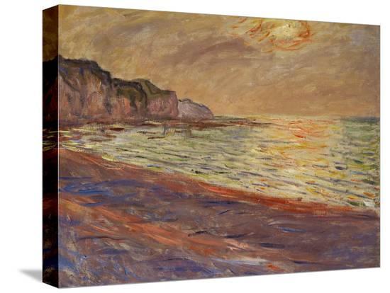 claude-monet-beach-at-pourville-sunset-1882