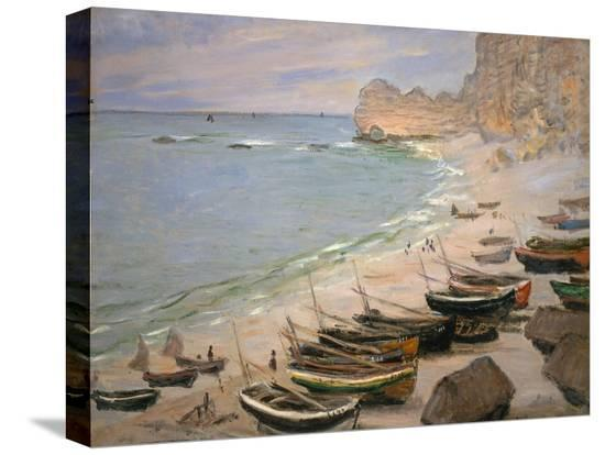 claude-monet-beach-with-boats-at-etretat-1883
