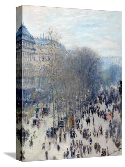 Boulevard des capucines stretched canvas print by claude - Bureau de change boulevard des capucines ...