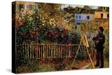 Monet Painting in His Garden in Argenteuil