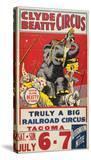 """Clyde Beatty Circus; Truly Big Railroad Circus""  1935"