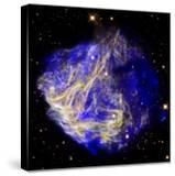 Composite Image of Data from Chandra and Hubble  Depicts Scene of a Supernova Explosion's Aftermath