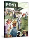 """Distracted Pro Golfer "" Saturday Evening Post Cover  July 2  1960"