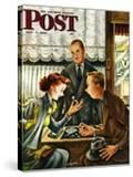 """""""Engagement Ring """" Saturday Evening Post Cover  May 7  1949"""