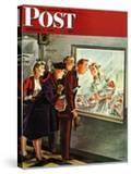 """Maternity Ward "" Saturday Evening Post Cover  November 2  1946"