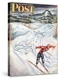"""Snow Skiier After the Falls "" Saturday Evening Post Cover  January 25  1947"