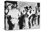 Cowboys Drinking in a Texas Saloon  C1890