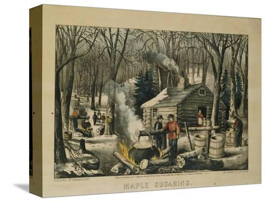 currier-ives-maple-sugaring-early-spring-in-the-northern-woods-1872