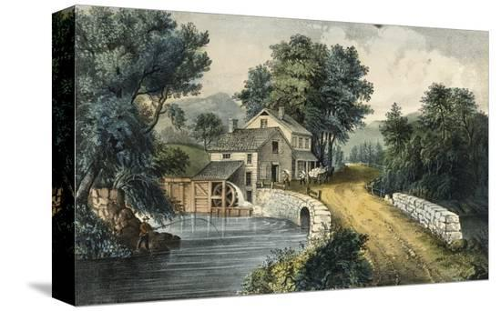 currier-ives-the-roadside-mill