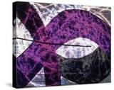 Abstract Image in Purple and White