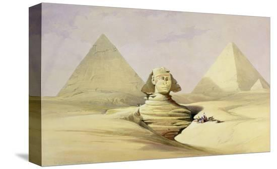 david-roberts-the-great-sphinx-and-the-pyramids-of-giza-from-egypt-and-nubia-vol-1
