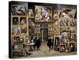 Archduke Leopold Wilhelm in His Gallery in Brussels  1647-1651
