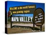 Sign at Entrance of Napa Valley  California