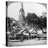 Dhows and Houses on the Chao Phraya River  Bangkok  Thailand  1900s