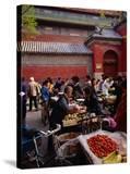 Bell Tower Street Market  Beijing  China